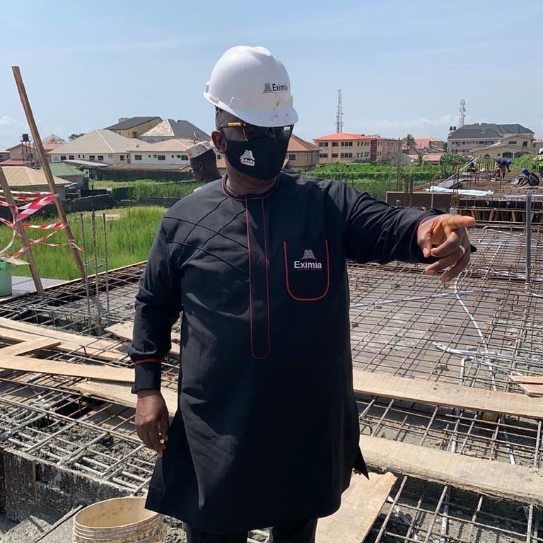 Mr Hakeem Ogunniran (Eximia, CEO) Fiona Lawton Apartments Site Visit
